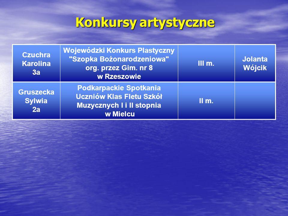 Konkursy artystyczne Czuchra Karolina 3a Wojewódzki Konkurs Plastyczny