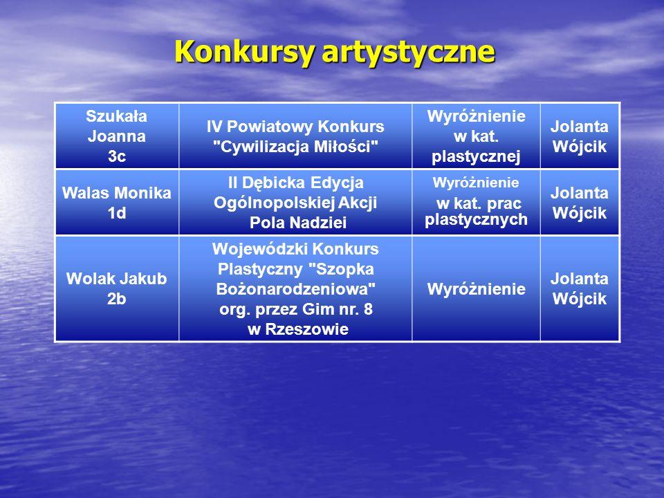 Konkursy artystyczne Szukała Joanna 3c IV Powiatowy Konkurs