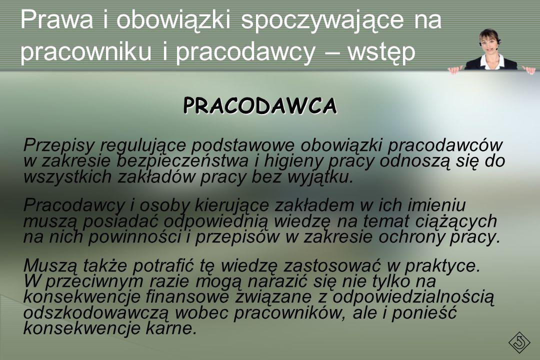 Podstawowe prawa pracownika PODSTAWA PRAWNA: art.210 Kodeksu pracy § 1.