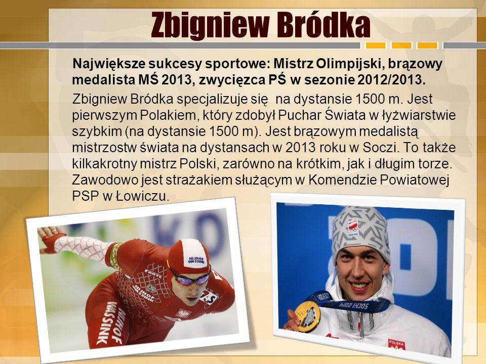 Justyna Kowalczyk Największe sukcesy sportowe: Mistrzyni Olimpijska, trzykrotna medalistka IO w Vancouver (złoto, srebro, brąz), czterokrotna triumfat