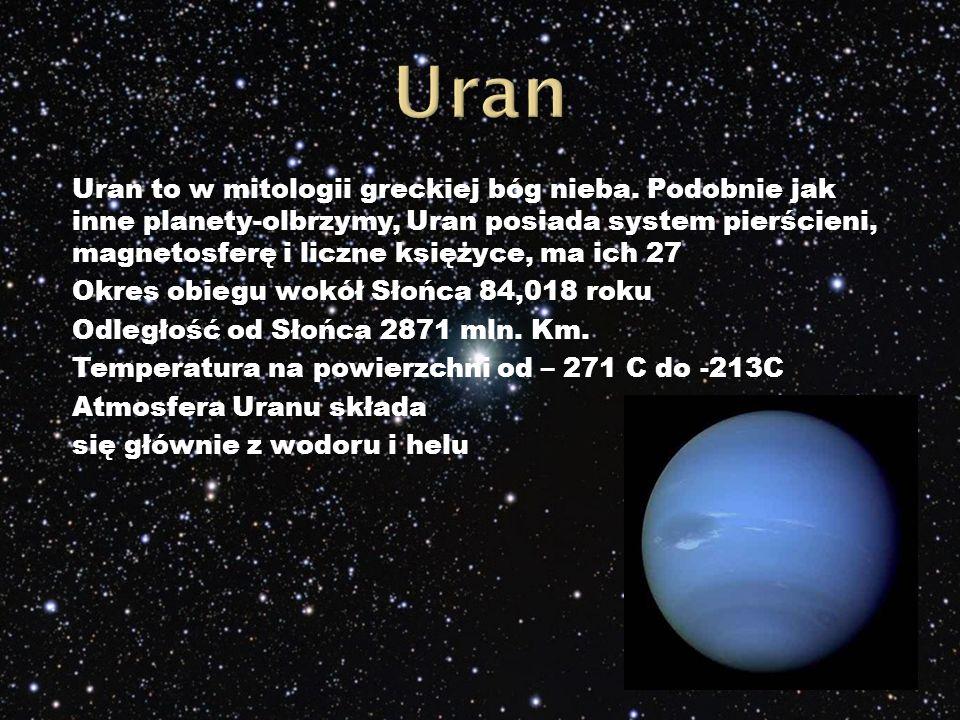 Uran to w mitologii greckiej bóg nieba.