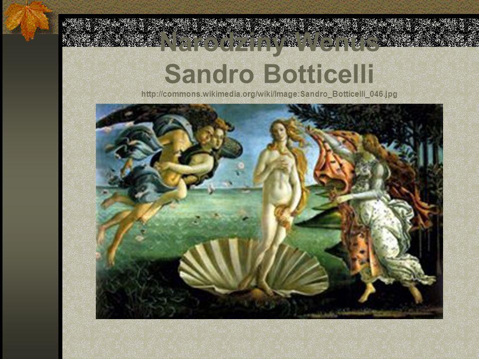 Narodziny Wenus Sandro Botticelli http://commons.wikimedia.org/wiki/Image:Sandro_Botticelli_046.jpg
