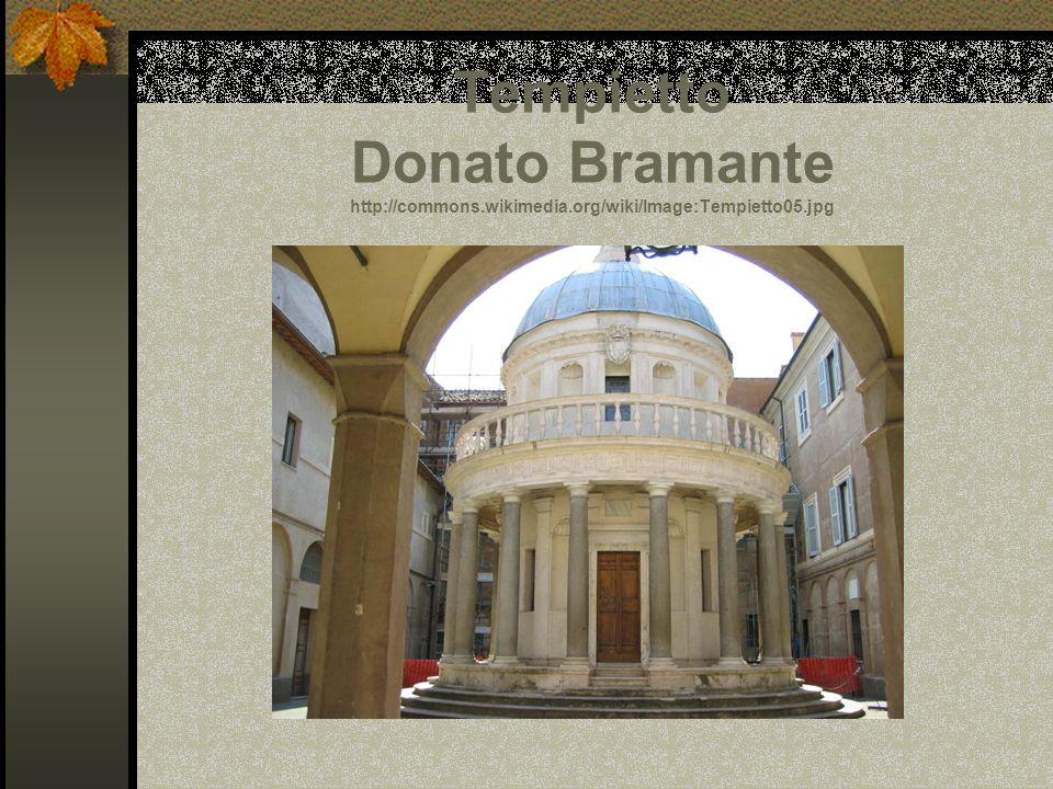 Tempietto Donato Bramante http://commons.wikimedia.org/wiki/Image:Tempietto05.jpg