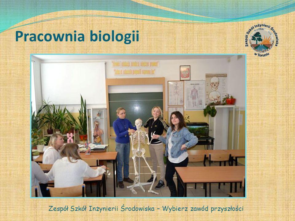 Pracownia biologii Zespół Szkół Inżynierii Środowiska – Wybierz zawód przyszłości