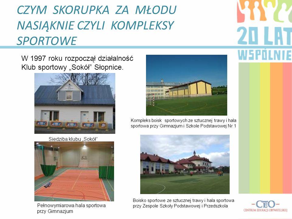 CZYM SKORUPKA ZA MŁODU NASIĄKNIE CZYLI KOMPLEKSY SPORTOWE W 1997 roku rozpoczął działalność Klub sportowy Sokół Słopnice.