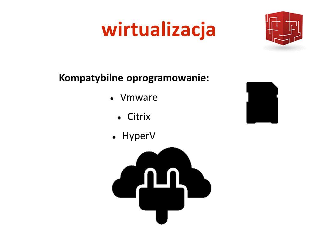 wirtualizacja Kompatybilne oprogramowanie: Vmware Citrix HyperV