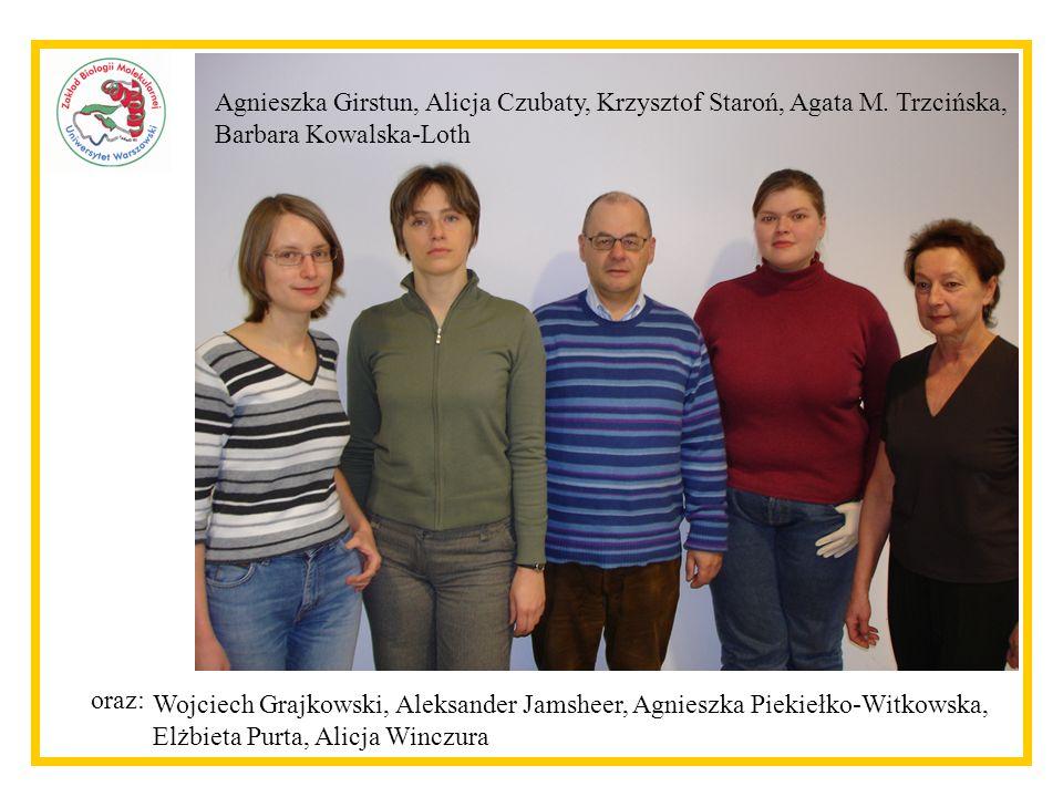 Agnieszka Girstun, Alicja Czubaty, Krzysztof Staroń, Agata M.