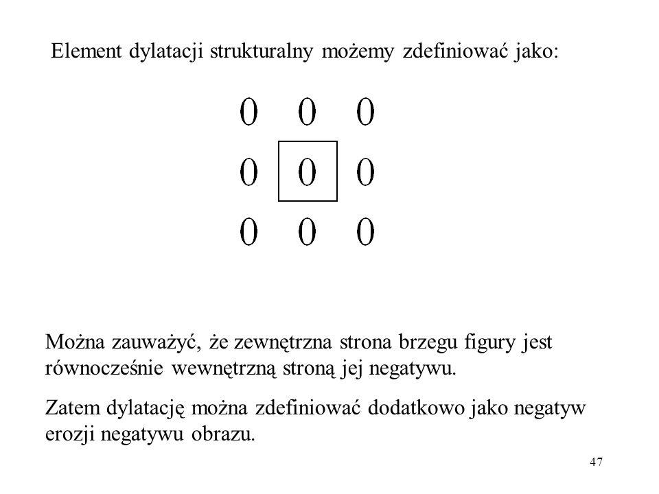 47 Element dylatacji strukturalny możemy zdefiniować jako: Można zauważyć, że zewnętrzna strona brzegu figury jest równocześnie wewnętrzną stroną jej