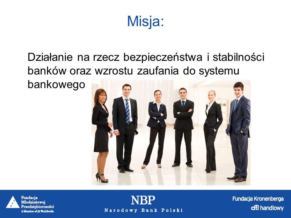 Zadania: Udzielanie pomocy finansowej bankom, które znalazły się w obliczu utraty wypłacalności.