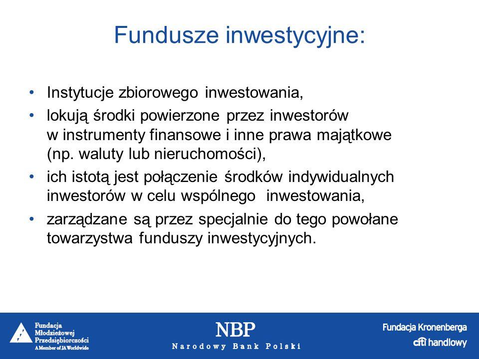 Fundusze inwestycyjne różnią się między sobą poziomem ryzyka i związanym z nim rodzajem instrumentu finansowego, w który lokują swoje aktywa.