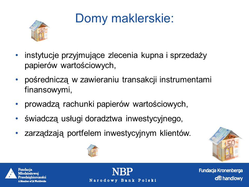 Banki komercyjne: Instytucje finansowe, które: przyjmują depozyty, udzielają kredytów i pożyczek, dokonują rozliczeń pieniężnych w obrocie krajowym i zagranicznym, prowadzą rachunki podmiotów gospodarczych i osób fizycznych.