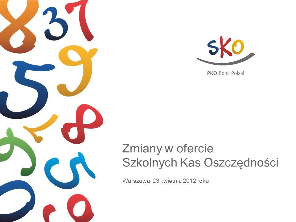 Zmiany w ofercie Szkolnych Kas Oszczędności Warszawa, 23 kwietnia 2012 roku