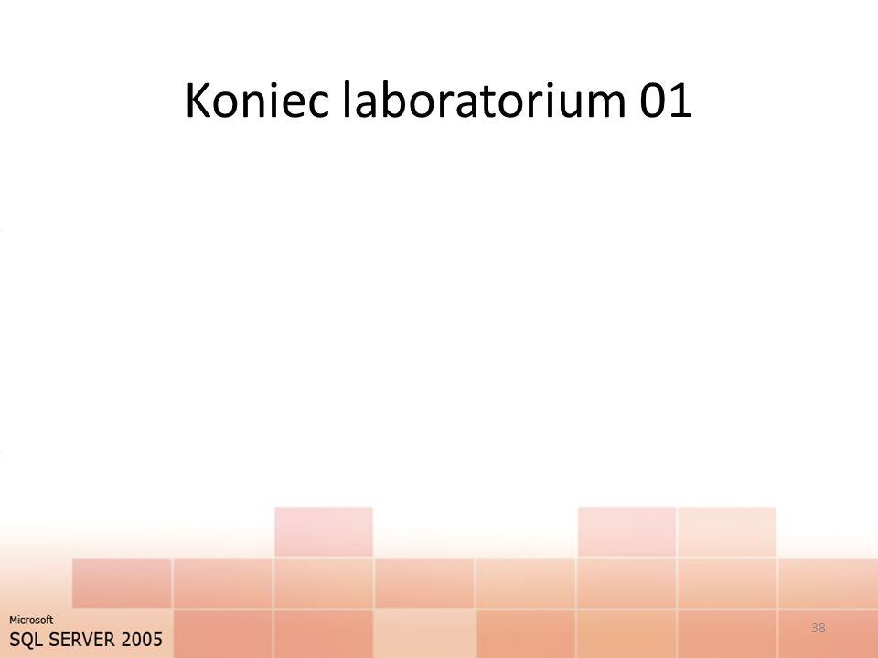 Koniec laboratorium 01 38