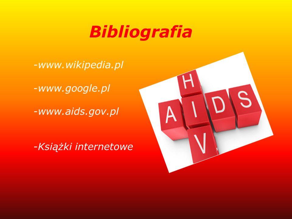 Bibliografia -www.wikipedia.pl -www.google.pl -www.aids.gov.pl -Książki internetowe