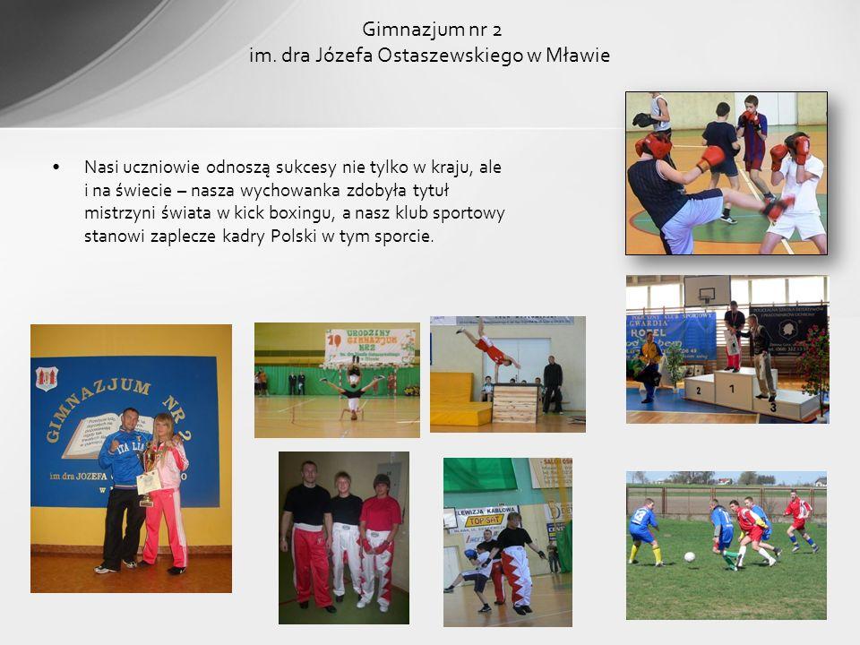 Nasi uczniowie odnoszą sukcesy nie tylko w kraju, ale i na świecie – nasza wychowanka zdobyła tytuł mistrzyni świata w kick boxingu, a nasz klub sport