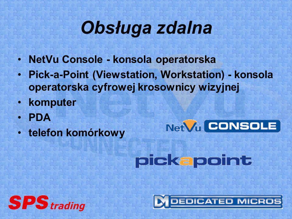 Obsługa zdalna NetVu Console - konsola operatorska Pick-a-Point (Viewstation, Workstation) - konsola operatorska cyfrowej krosownicy wizyjnej komputer