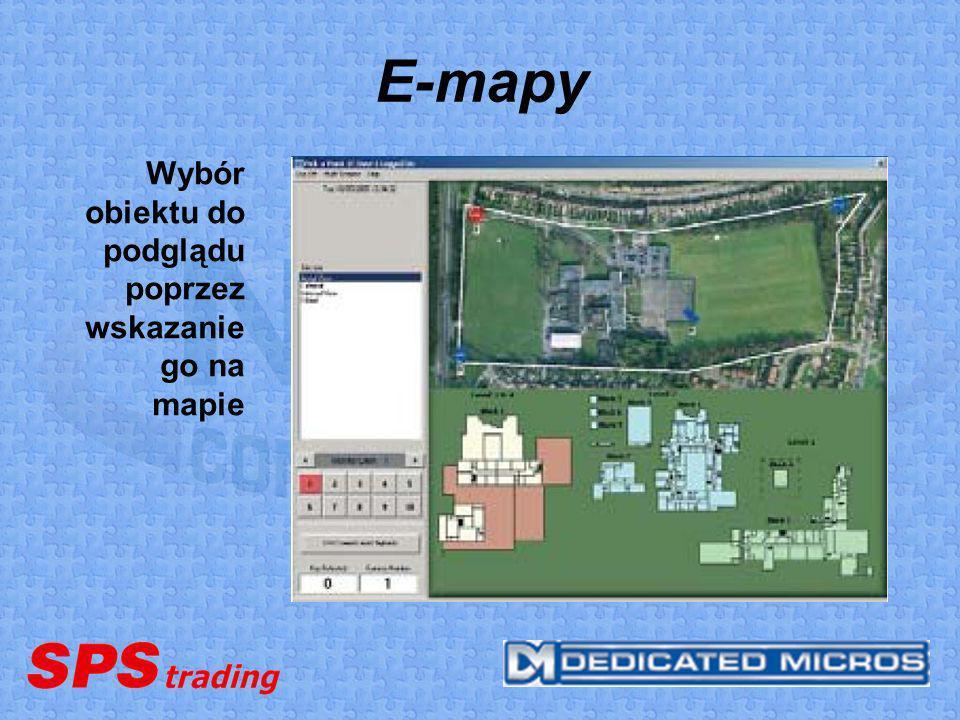 E-mapy Wybór obiektu do podglądu poprzez wskazanie go na mapie