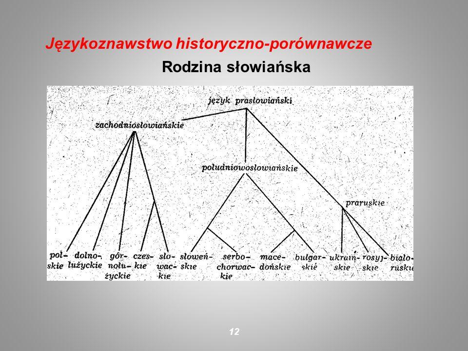 Rodzina słowiańska 12 Językoznawstwo historyczno-porównawcze