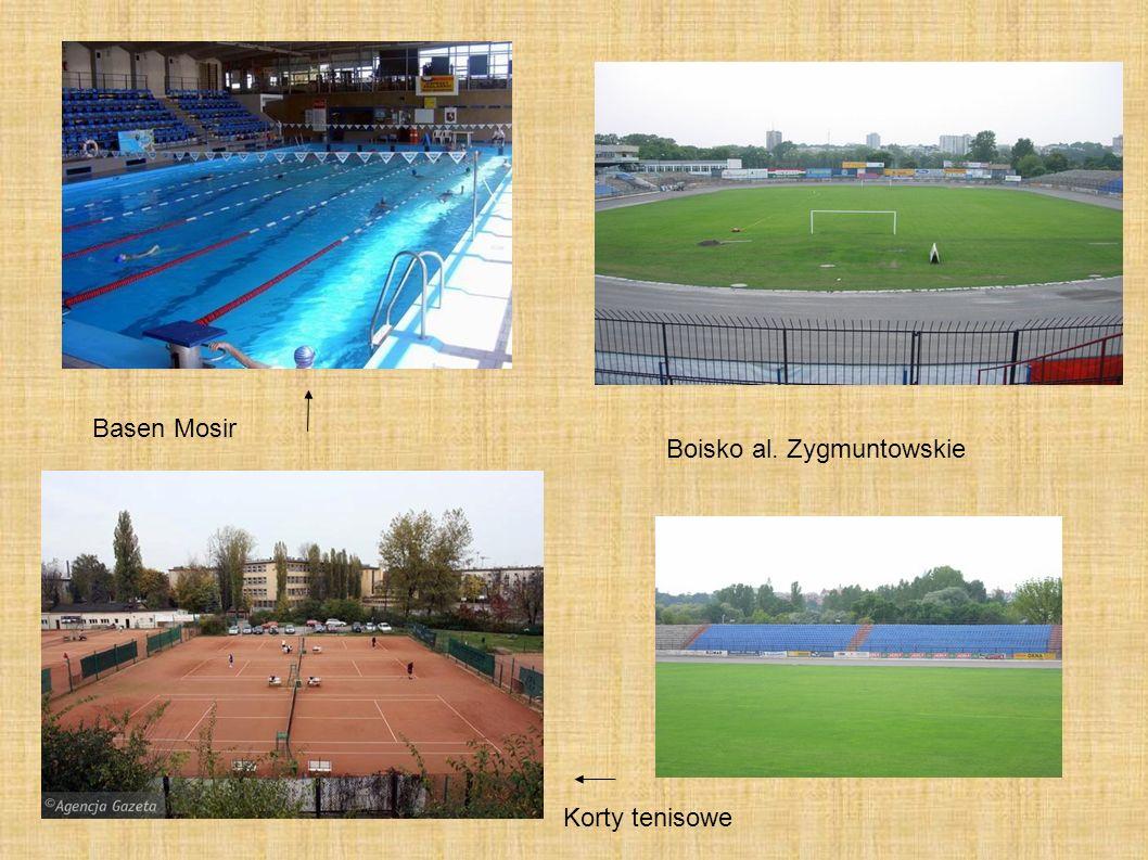 Basen Mosir Korty tenisowe Boisko al. Zygmuntowskie