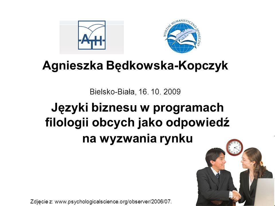 Agnieszka Będkowska-Kopczyk Bielsko-Biała, 16. 10.
