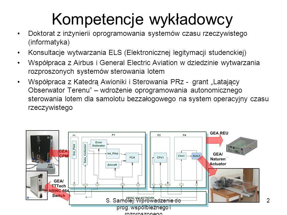 Kompetencje wykładowcy Doktorat z inżynierii oprogramowania systemów czasu rzeczywistego (informatyka) Konsultacje wytwarzania ELS (Elektronicznej leg