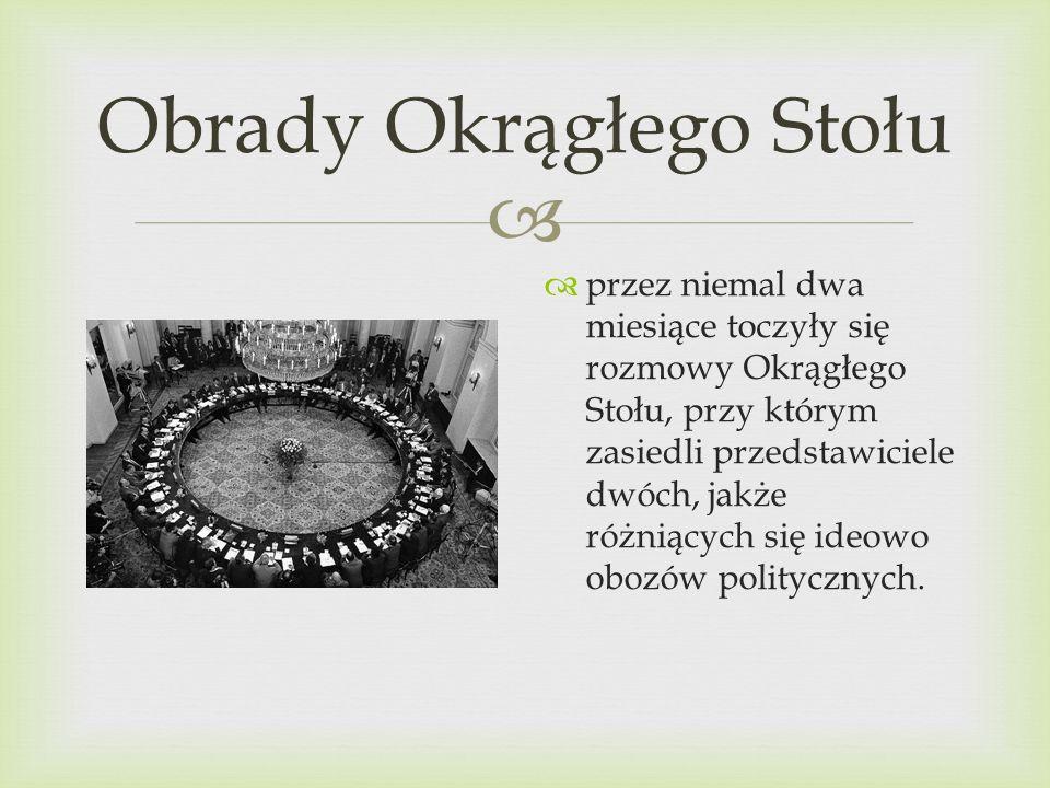Obrady Okrągłego Stołu Na obrady Okrągłego Stołu toczące się od 6 lutego do 5 kwietnia 1989 roku znaczący wpływ miały strajki zapoczątkowane 25 kwietnia 1988 roku w Bydgoszczy.