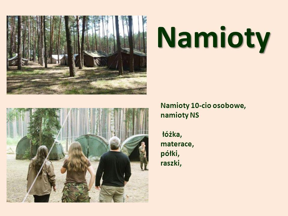 Namioty Namioty 10-cio osobowe, namioty NS łóżka, materace, półki, raszki,