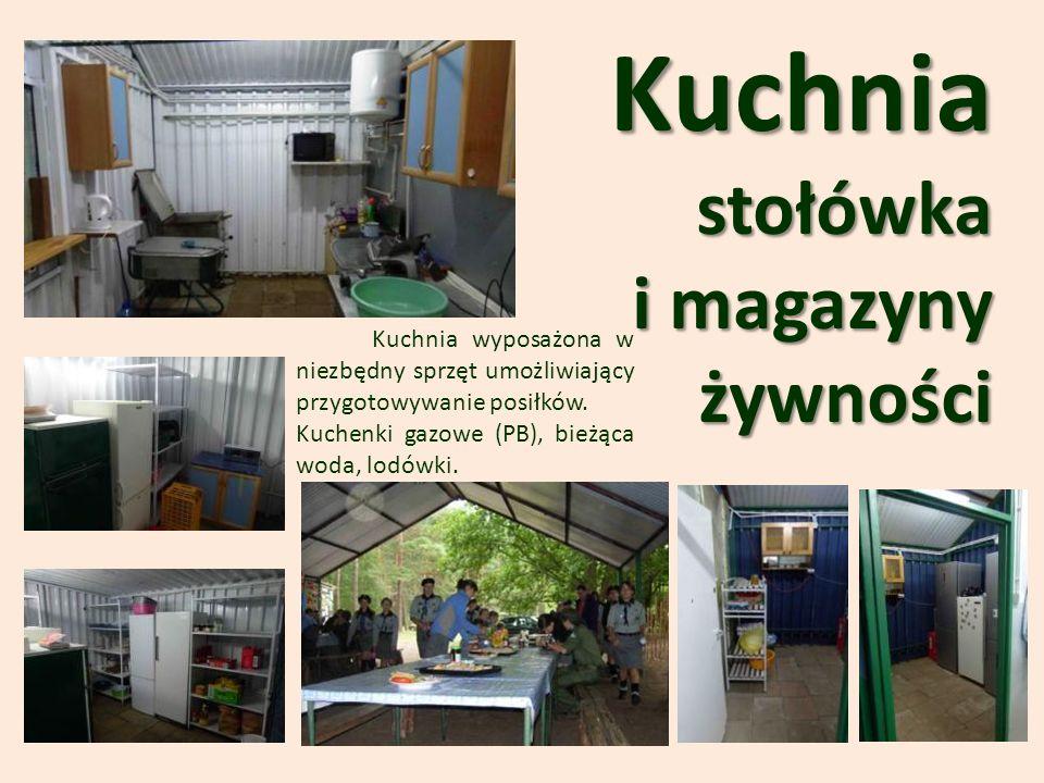 Kuchniastołówka i magazyny żywności Kuchnia wyposażona w niezbędny sprzęt umożliwiający przygotowywanie posiłków.