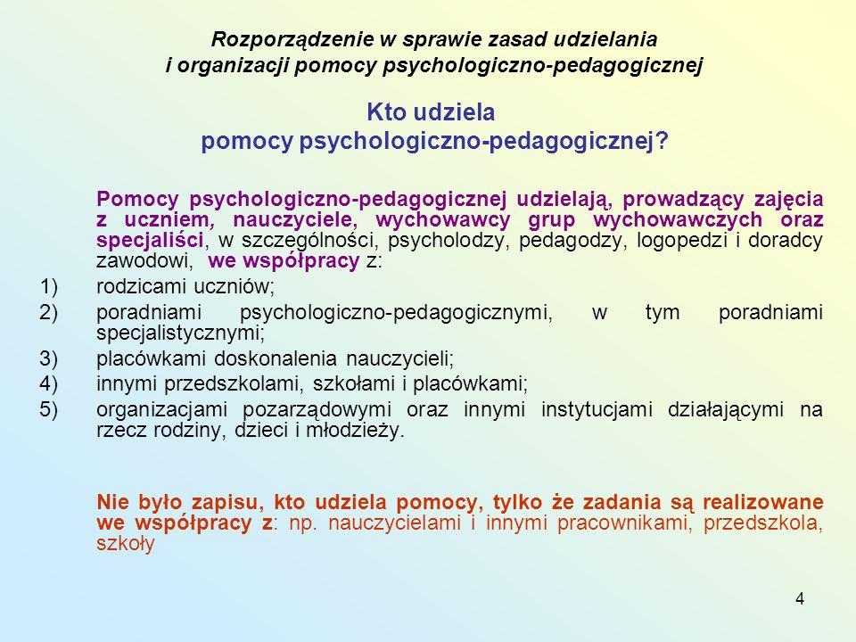 4 Kto udziela pomocy psychologiczno-pedagogicznej.