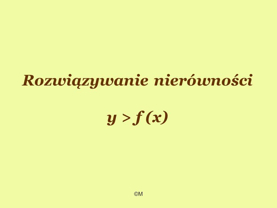 ©M Rozwiązywanie nierówności y > f (x)