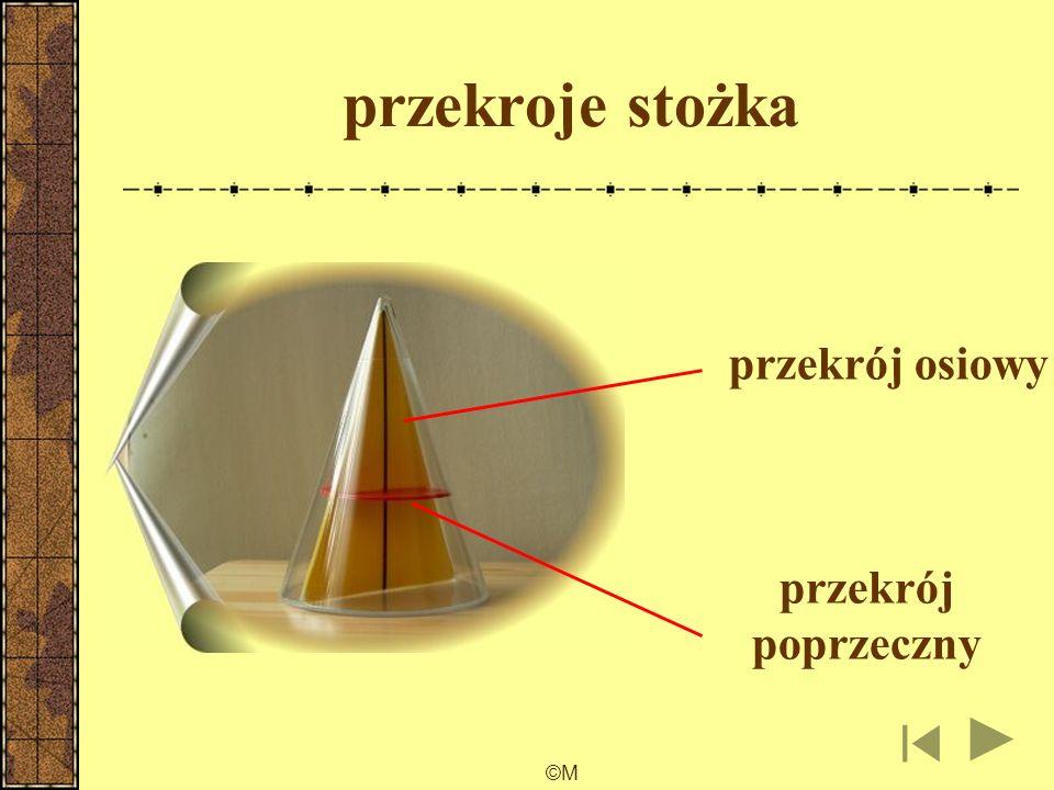 ©M przekroje walca przekrój osiowy przekrój poprzeczny