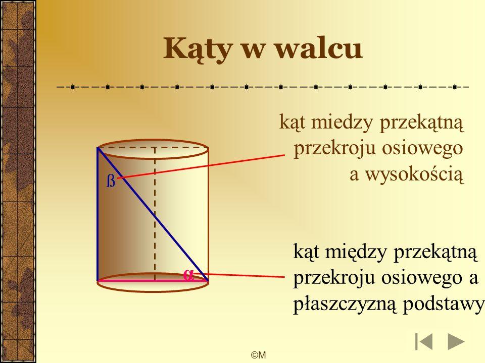 ©M przekroje kuli przekrój poprzeczny przekrój osiowy