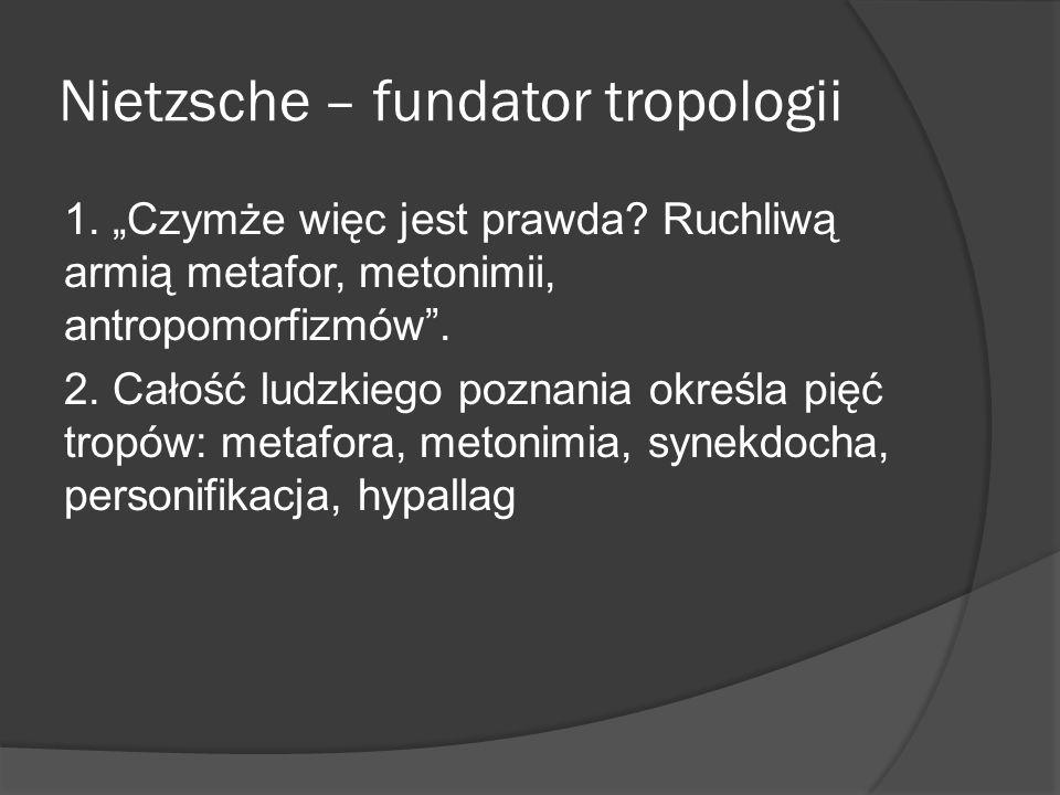 Nietzsche – fundator tropologii 1.Czymże więc jest prawda.