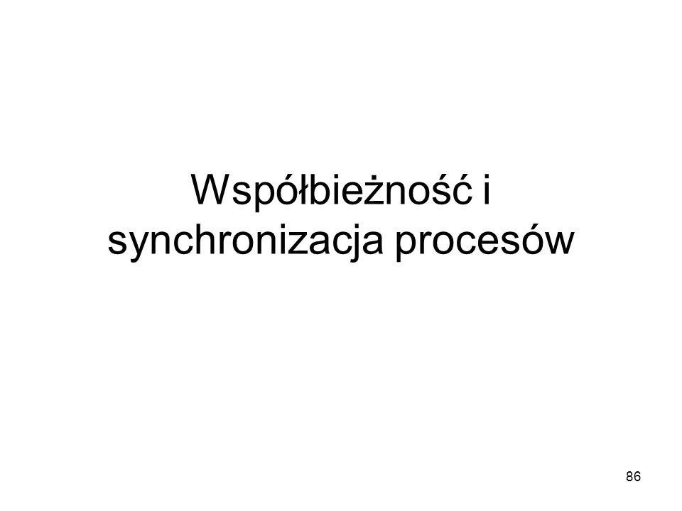 86 Współbieżność i synchronizacja procesów
