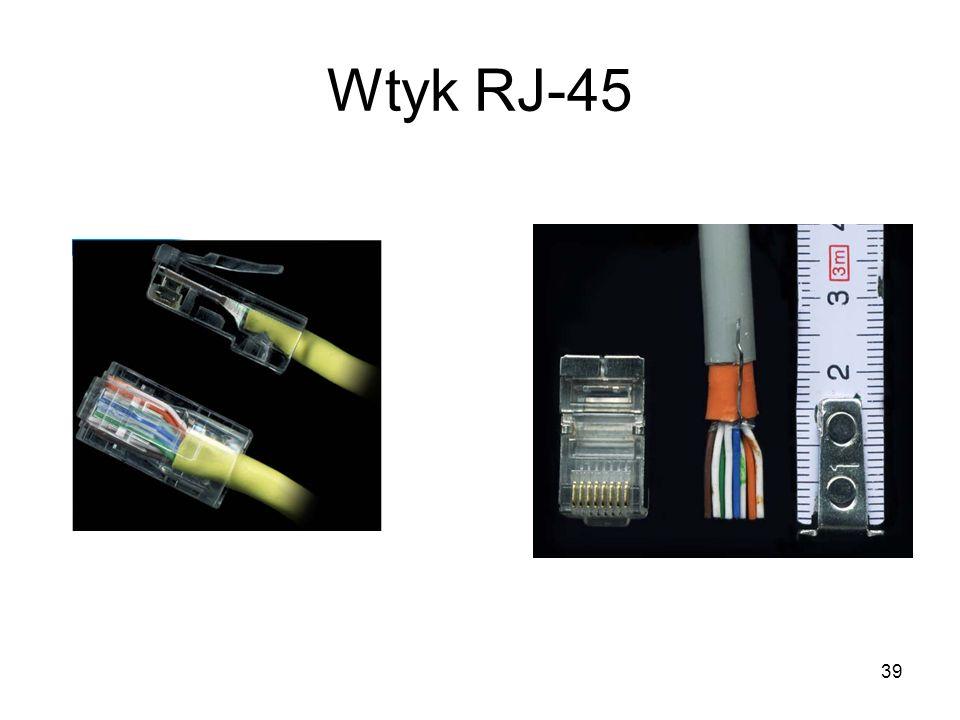 39 Wtyk RJ-45