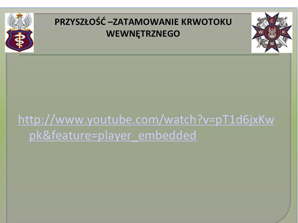 PRZYSZŁOŚĆ –ZATAMOWANIE KRWOTOKU WEWNĘTRZNEGO http://www.youtube.com/watch?v=pT1d6jxKw pk&feature=player_embedded