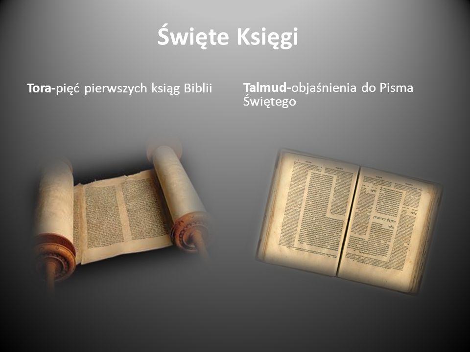 Święte Księgi Tora-pięć pierwszych ksiąg Biblii Talmud-objaśnienia do Pisma Świętego