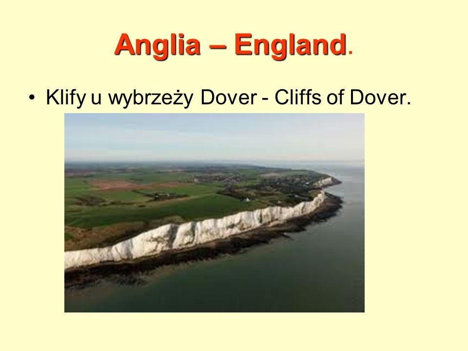 Anglia – England.Jest największym krajem Zjednoczonego Królestwa (53 miliony mieszkańców).