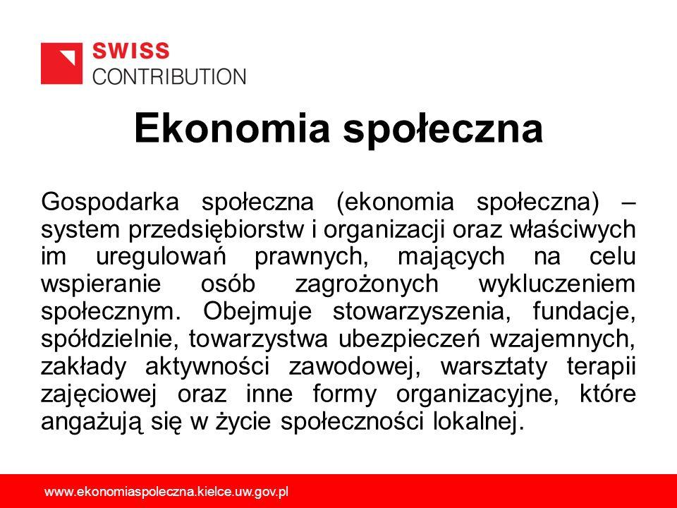 Gospodarka społeczna (ekonomia społeczna) – system przedsiębiorstw i organizacji oraz właściwych im uregulowań prawnych, mających na celu wspieranie o