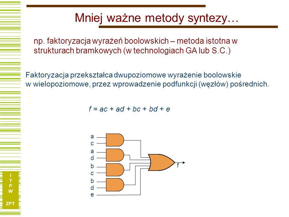 I T P W ZPT 27 Przykład – realizacja h = f H G a b c d e g1g1 g2g2