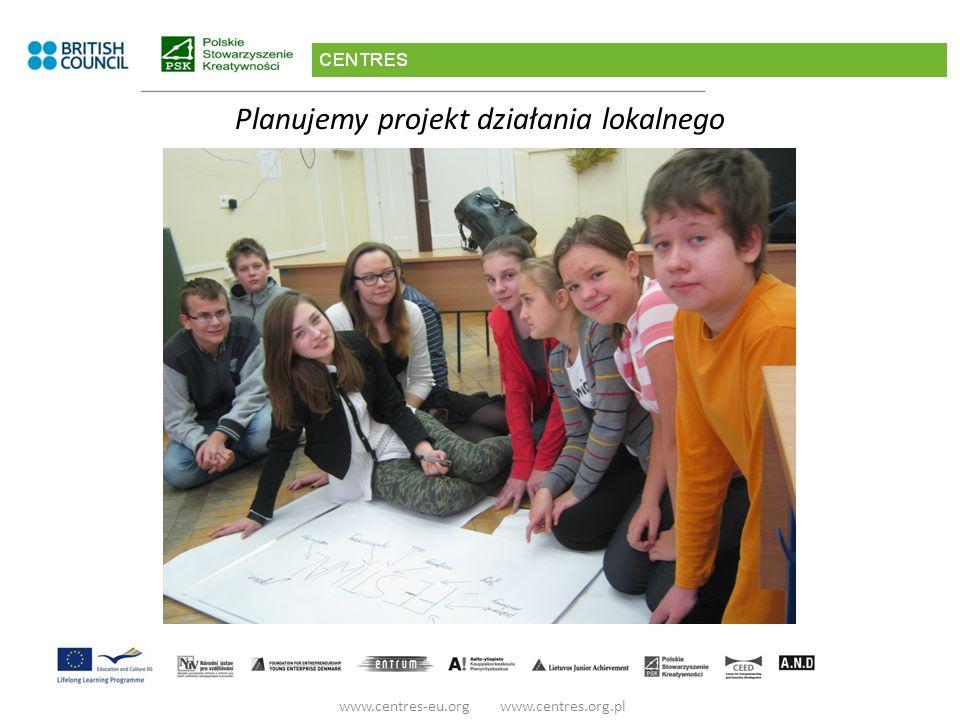Planujemy projekt działania lokalnego www.centres-eu.org www.centres.org.pl