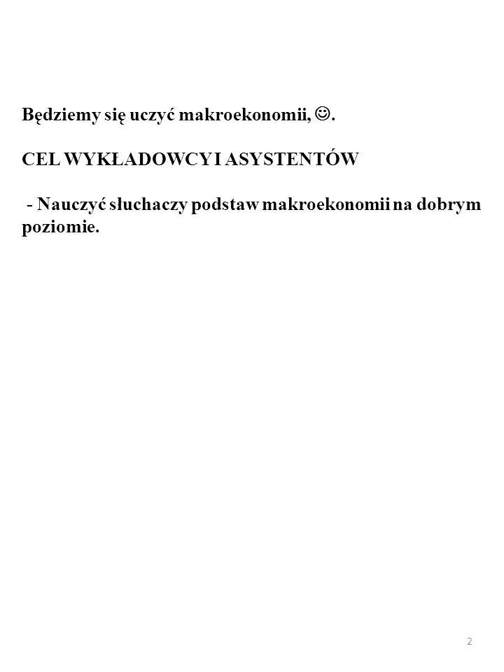 Witam Państwa na wykładzie z podstaw makroekonomii, :)… 1