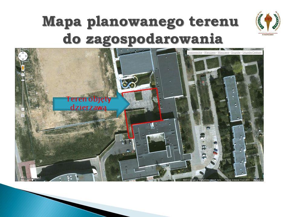 PLAC ZABAW PATIO PODCIENIA Mapa planowanego terenu do zagospodarowania do zagospodarowania
