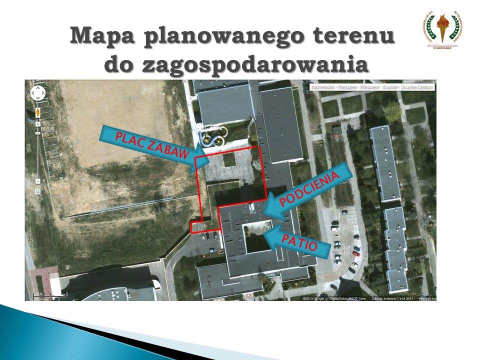 Widok na miejsce planowanego placu zabaw od strony boisk UCSiR