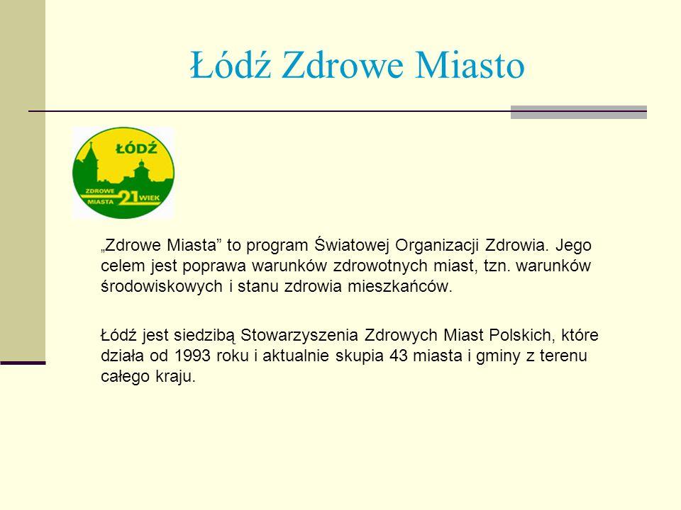 Łódź Zdrowe Miasto Zdrowe Miasta to program Światowej Organizacji Zdrowia. Jego celem jest poprawa warunków zdrowotnych miast, tzn. warunków środowisk