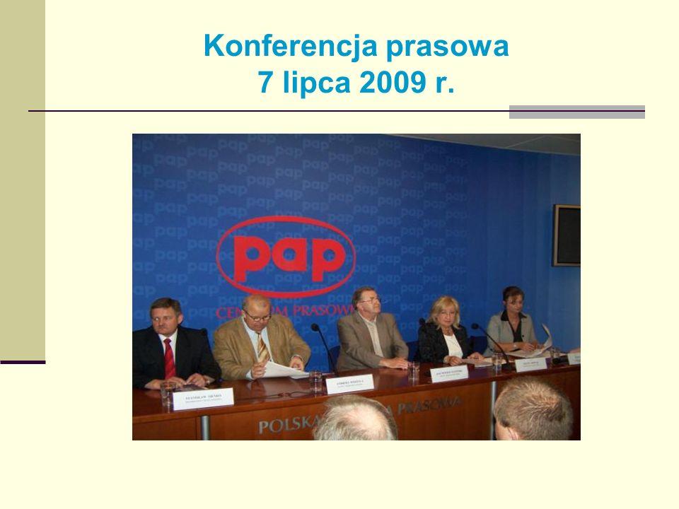 Konferencja prasowa 7 lipca 2009 r.
