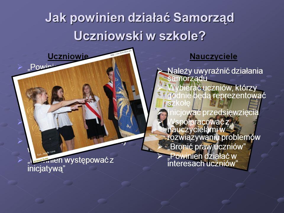 Co myślisz o działaniu Samorządu Uczniowskiego w naszym liceum .