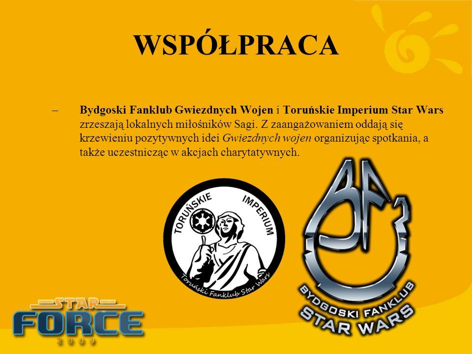 WSPÓŁPRACA –Bydgoski Fanklub Gwiezdnych Wojen i Toruńskie Imperium Star Wars zrzeszają lokalnych miłośników Sagi. Z zaangażowaniem oddają się krzewien