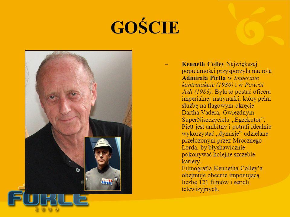 GOŚCIE –Kenneth Colley Największej popularności przysporzyła mu rola Admirała Pietta w Imperium kontratakuje (1980) i w Powrót Jedi (1983). Była to po