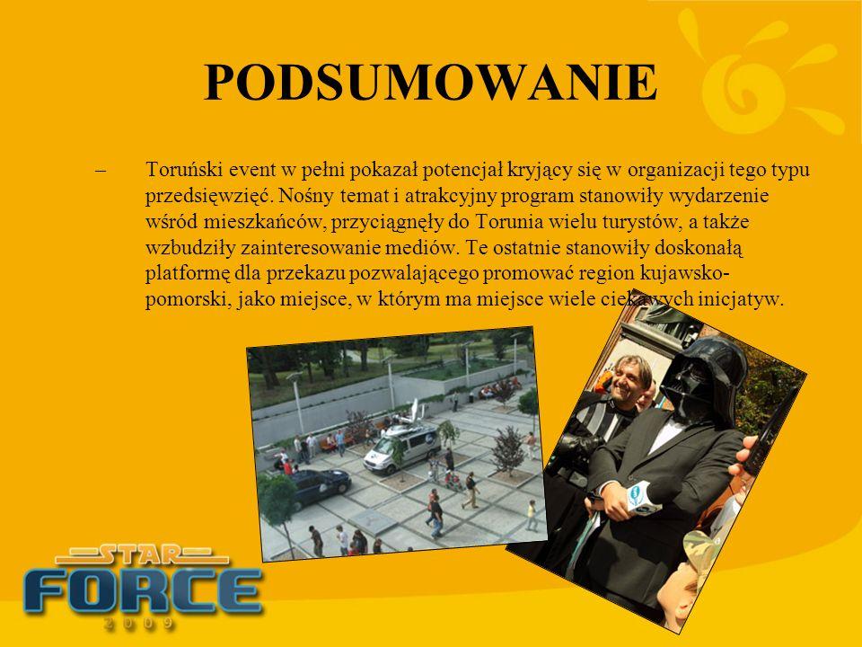 PODSUMOWANIE –Toruński event w pełni pokazał potencjał kryjący się w organizacji tego typu przedsięwzięć. Nośny temat i atrakcyjny program stanowiły w